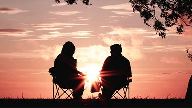 Twee mensen op een date