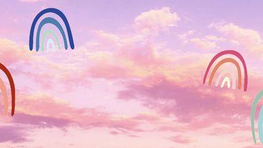 lucht met mooie kleur