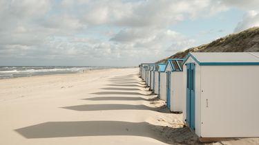 Huisjes op texels strand