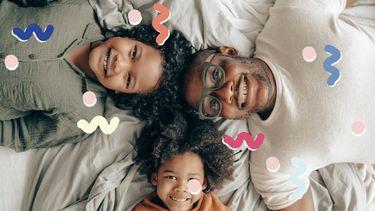 vader met 2 kinderen