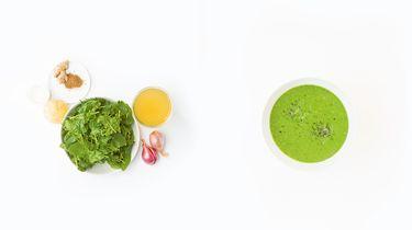 soep met spinazie