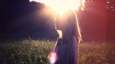 meisje met zon