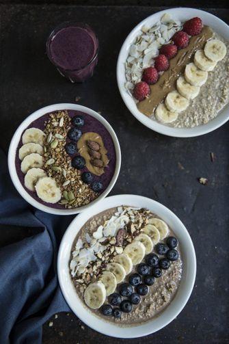 Foto van een vegan ontbijt bij SLA