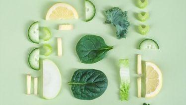 groenten op groene achtergrond