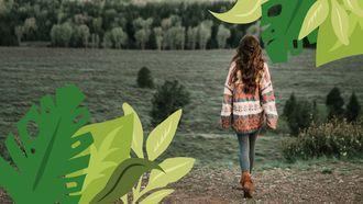 vrouw in de natuur