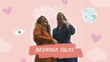 illustratie Bedrock Talks Rosa en Lisanne