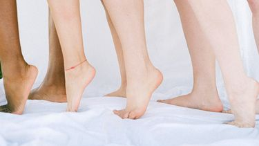 Naakte benen en voeten