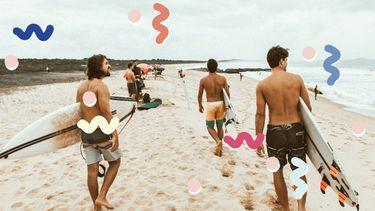 surfers op het strand