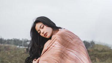 vrouw met slaaptekort