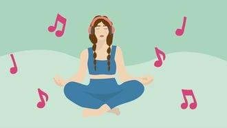 meditatiemuziek illustratie