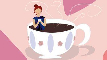 illustratie koffiekopje
