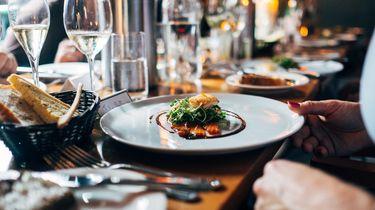 Duurzame restaurants in Amsterdam stockfoto