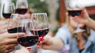wijnglazen proosten