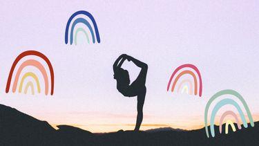 vrouw doet yoga
