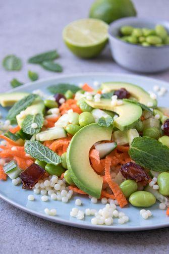 Vegan salade recept parelcoussous