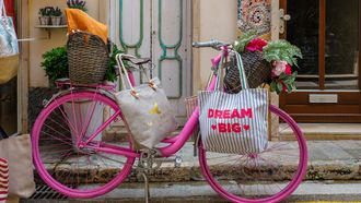 vrolijke fiets