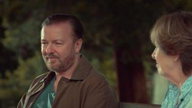 scène uit After life op Netflix