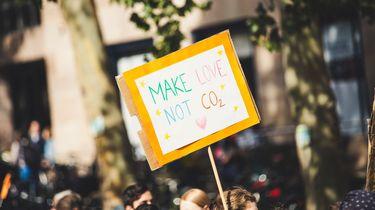 bord over klimaatneutraal zijn