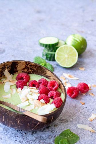 groene-smoothiebowl framboos limoen