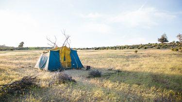 tent in een veld