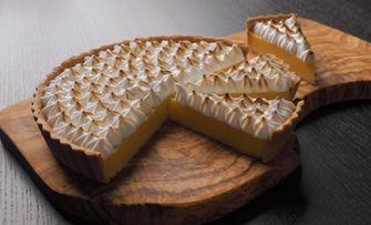 Foto van vegan lemon meringue pie