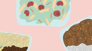 illustratie meal prepping