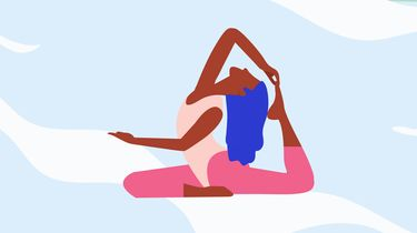 illustratie vrouw in yoga outfit