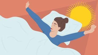 illustratie van een vrouw die beter heeft geslapen