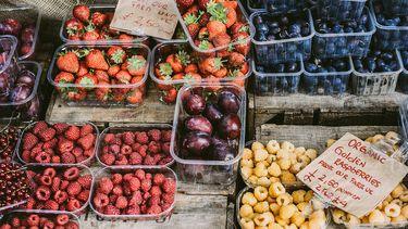 fruit in kraam