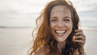 Tevreden Nederlander op het strand