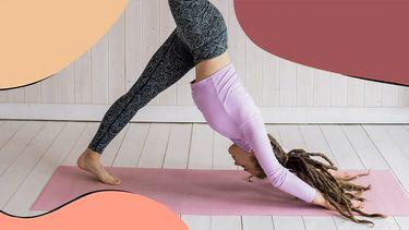 meisje doet yoga