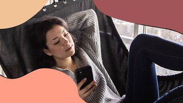 meisje in hangmat smsen