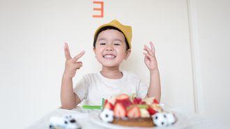 Afbeelding bij kinderen vertellen over geluk