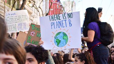 Manifestanten voor Earth Overshoot Day