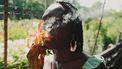 vrouw rookt