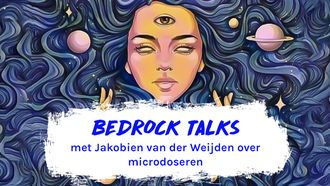 Bedrock talks podcast microdoseren illustratie