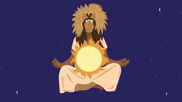 zon staat in leeuw illustratie