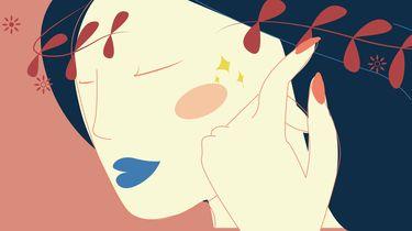 illustratie meisje mooie huid