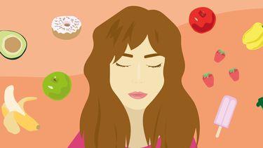 intuïtief eten illustratie
