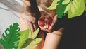 volva met een grapefruit