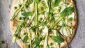 lichte lentepizza met asperges