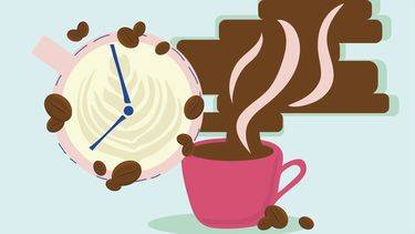 kopje koffie illustratie