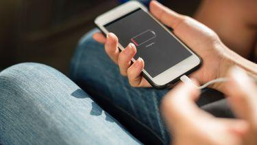 telefoon zonder batterij