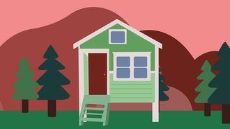 illustratie van tiny house