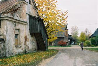 landschap in letland
