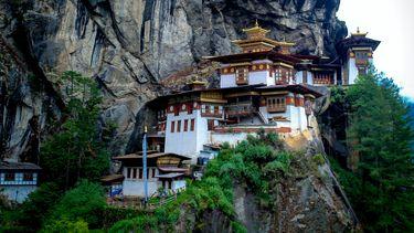 Tempel in het gelukland Bhutan