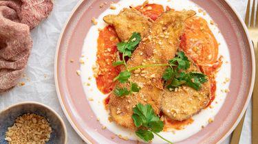 Afbeelding van vegetarische krokante aubergines recept 1