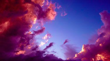 Roze wolken
