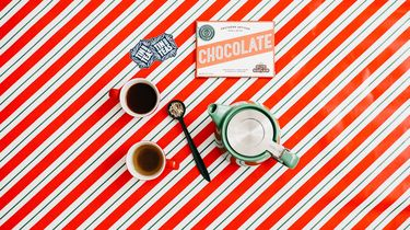 kopje koffie en chocola