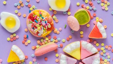 snoepjes op een feest